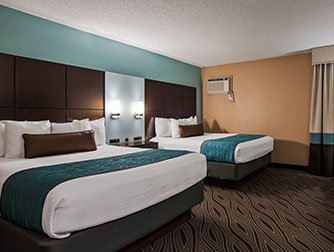 Two-Queen Room at the Best Western Galleria Inn & Suites
