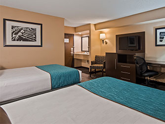 Family Room available at the Best Western Galleria Inn & Suites*