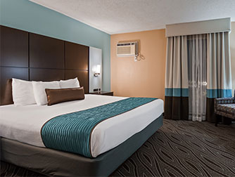 King Junior Suite at the Best Western Galleria Inn & Suites
