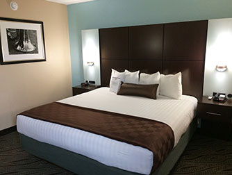 King Jacuzzi Suite at the Best Western Galleria Inn & Suites