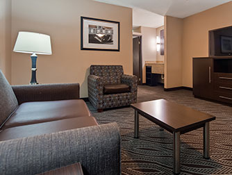 Two-Queen Junior Suite at the Best Western Galleria Inn & Suites